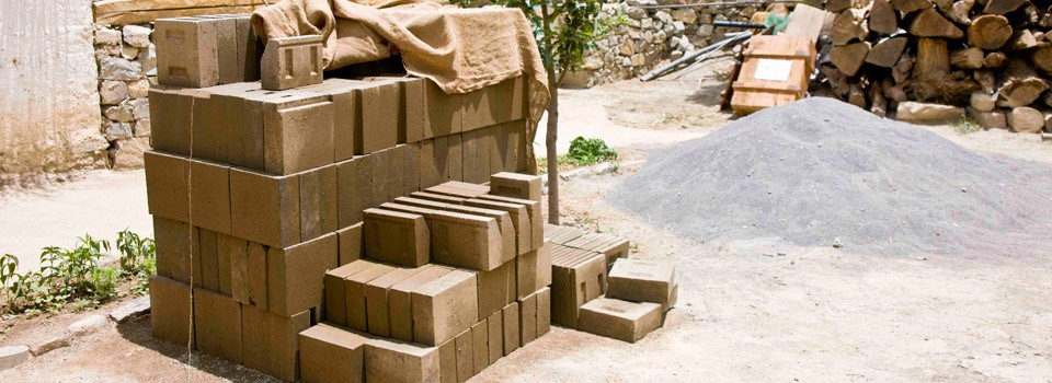 Mud Bricks Pile
