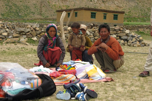 Spiti family and their new sweaters