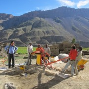 Mud Brick Machine and Mountains
