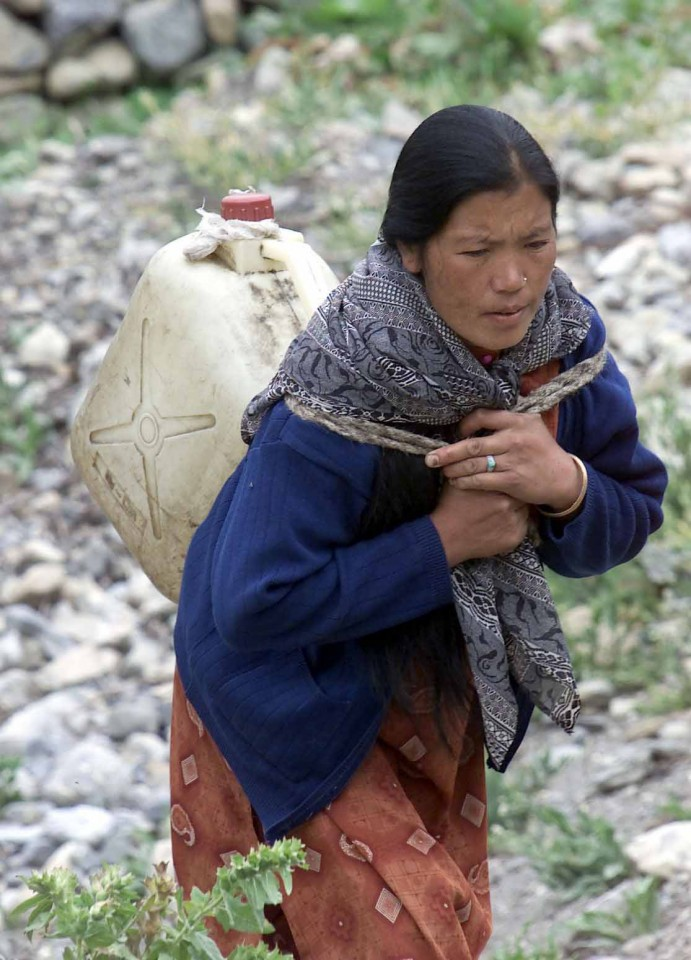 Lady carrying water