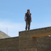 Lara on the roof