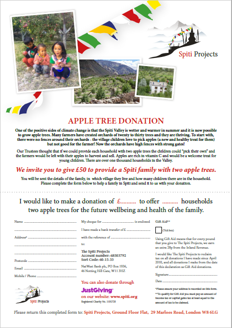 Apple Tree Donation Form