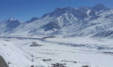 The frozen Spiti river in winter